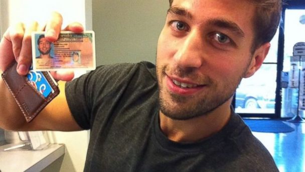 PHOTO: Ryan Ferguson is seen with his new license after being released from prison.