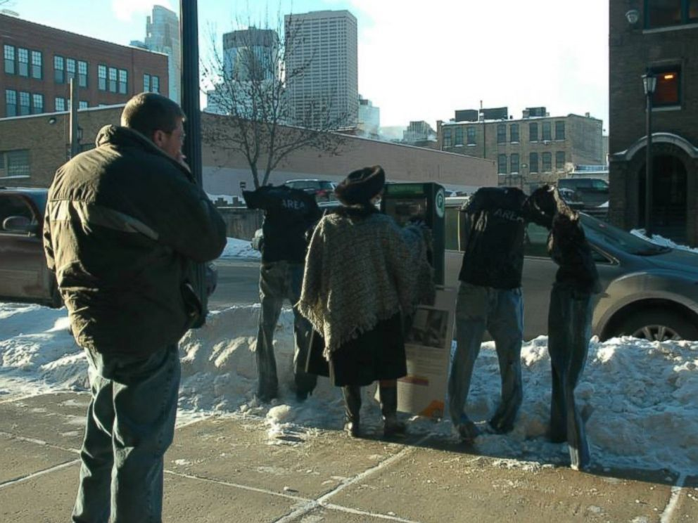 PHOTO: Minneapolis resident Tom Grotting brings laughs to his neighbors with his tradition of freezing pants.