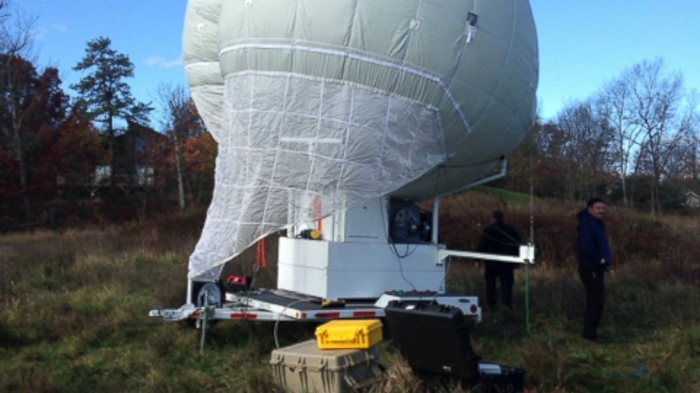 The Ohio Department of transportation has donated the use of a large Mylar balloon to assist the Pennsylvania State Police in their search for Eric Frein. The balloon is currently deployed in the area of the Alpine Ski Resort in Henryville, PA. Two photos in email I sent to photo DL.