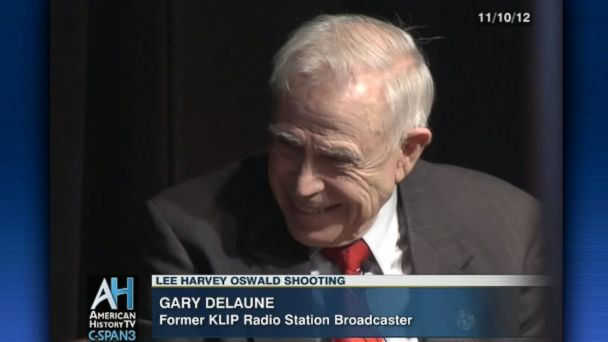 PHOTO: Dallas radio reporter Gary Delaune was the first to announce JFK had been shot and he witnessed the killing of Lee Harvey Oswald.
