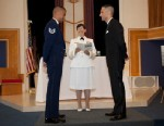 "PHOTO: Tech. Sgt. Erwynn Umali, 34, and civilian Will Behrens, 35, held their wedding at the Joint Base McGuire-Dix-Lakehurst in N.J. in June, the first gey wedding to be held on a military base since the repeal of ""Dont Ask, Dont Tell""."