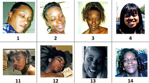 PHOTO Help LAPD put names to faces. LAPD releases more than 100 images recovered in possession of the Grim Sleeper.