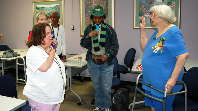 PHOTO:Charlotte Sewell, who spent 35 years guiding a Girl Scout troop for the mentally disabled, is now retiring.