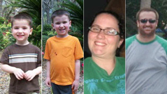 PHOTO: From left, Chase, Cole, Sharyn and Joel Hakken, who fled the United States for Cuba on April8, 2013 after Joel and Sharyn kidnapped their sons from Sharynss parents home.
