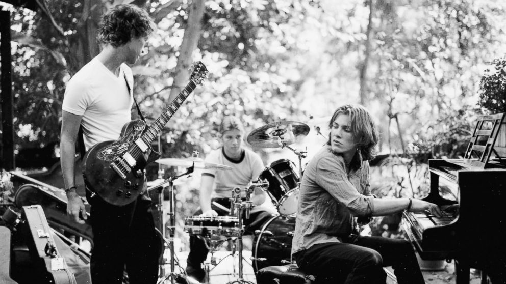 Hanson is seen here playing together in 1999.