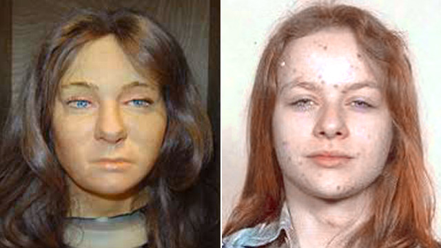 PHOTO: Forensic model of head of Heidi Balch