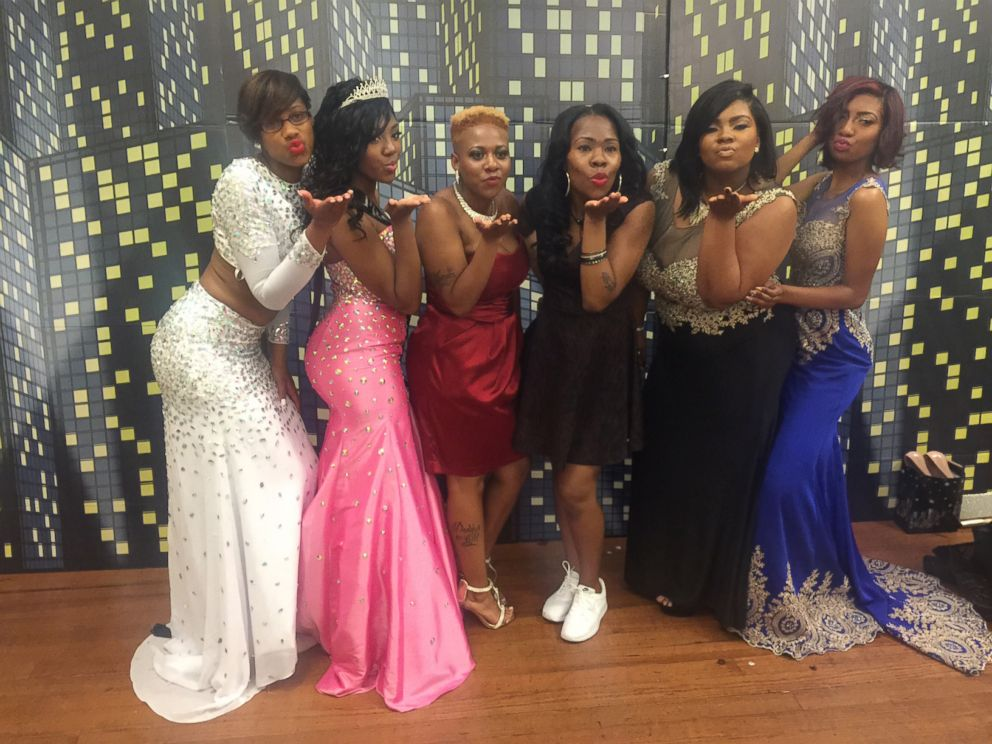 PHOTO: Destyni Tyree (second from left) celebrating prom. She was named prom queen.