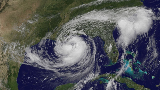 PHOTO: Tropical Storm Isaac was upgraded to Hurricane Isaac on August 28, 2012.