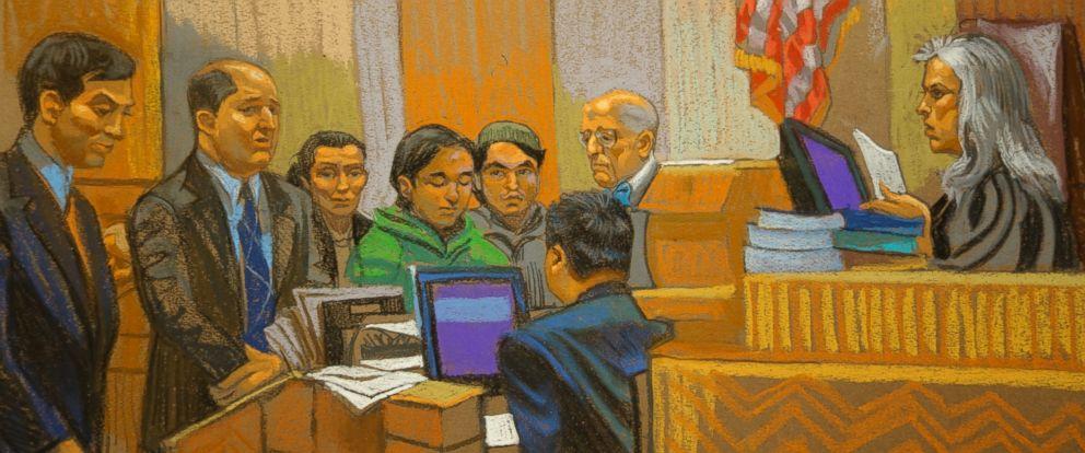 PHOTO: Abdurasul Hasanovich Juraboev and Akhror Saidakhmetov were arraigned today in Brooklyn.