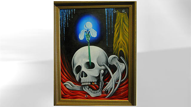PHOTO:Jack Kevorkian's paintings will be auctioned off, Oct. 28th 2011.