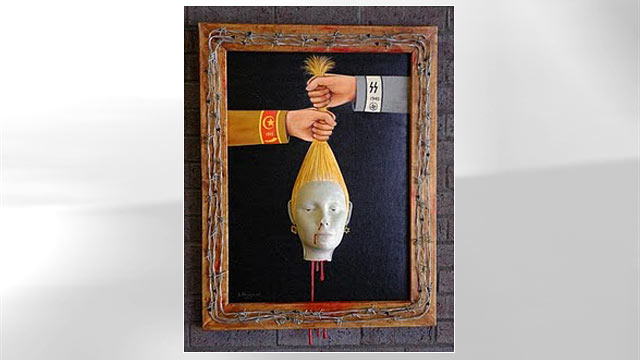 PHOTO: Jack Kevorkian's paintings will be auctioned off, Oct. 28th 2011.