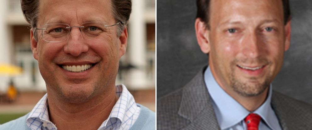 PHOTO: David Brat, seen left in this April 26, 2014 file photo taken in Ashland Va., and Jack Trammell, seen right in this undated photo posted on his campaign website.