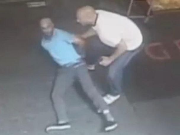 PHOTO: Surveillance video released by the NYPD shows plainclothes police officer James Frascatore tackling retired tennis star James Blake in a case of mistaken identity on Sept. 9, 2015.