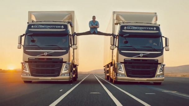 PHOTO: Jean Claude Van-Damme stars in the latest stunt video for Volvo Trucks.