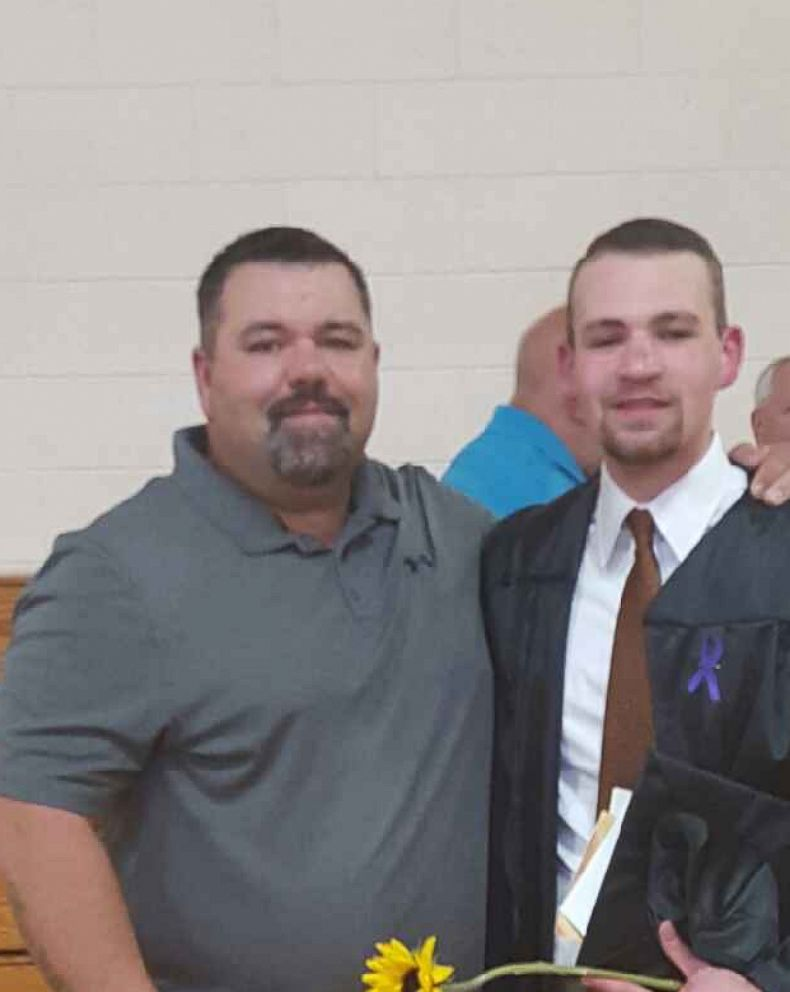 Jordan Brown (right), seen here with his father Chris Brown (left), was released when he turned 18 in 2015.