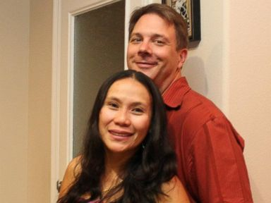 PHOTO: Judy Wehrman, seen here with her husband, says she thought Raul Martinez needed help when she saw him drop the price of his furniture on Craigslist every day.