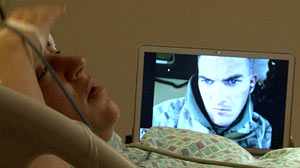 PHOTO: Pompilli watches birth via Skype