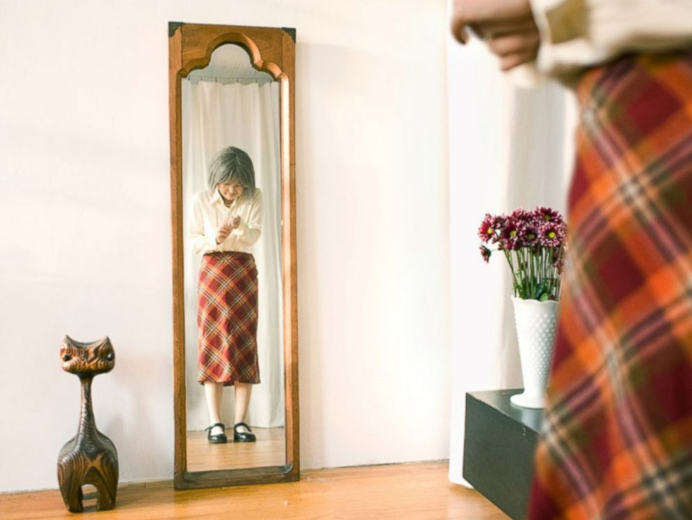 PHOTO: Photographer Kyoko Hamada dresses as a character that she calls Kikuchiyo-san for her photo series called I used to be you.