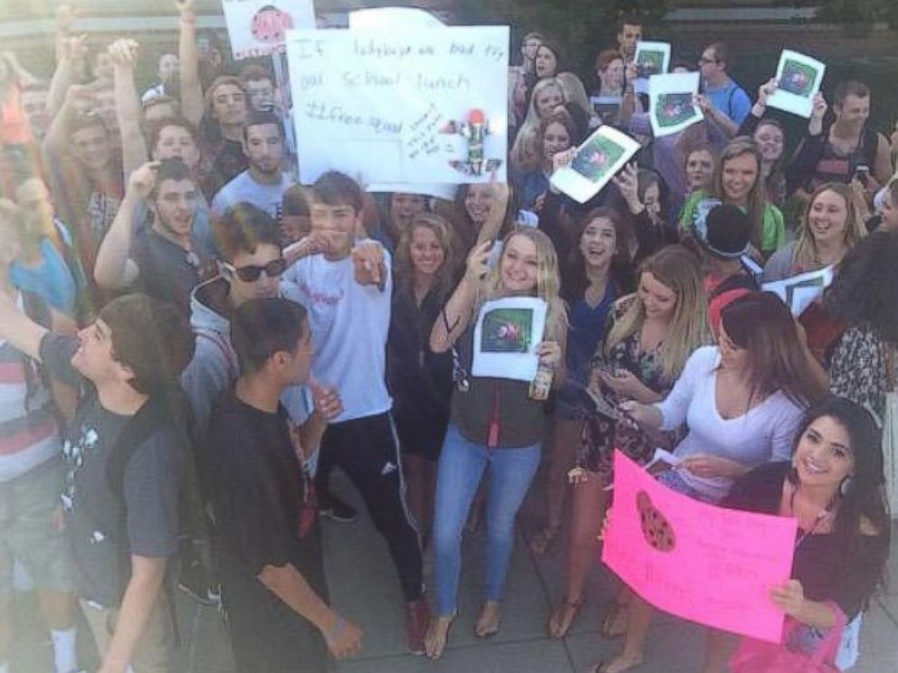 PHOTO:This photo posted on Twitter by Eric Maxey shows a protest at Chopticon High School in Maryland.