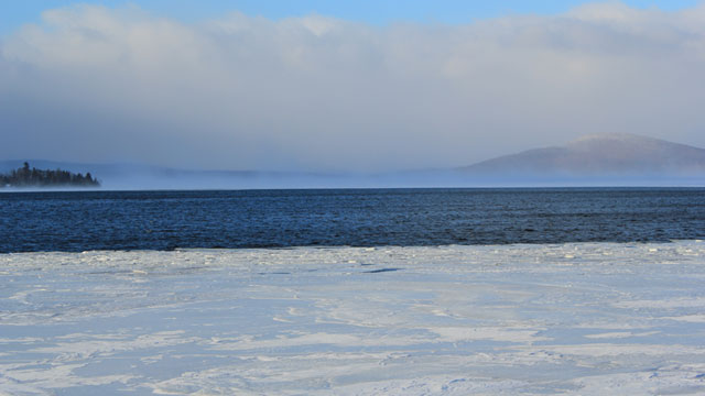 PHOTO: Rangeley Lake on Dec. 31, 2012.