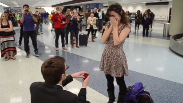 PHOTO: Austin Dyche surprised his girlfriend Malia with a chorus of friends singing a song he wrote for her.