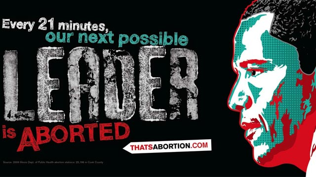 PHOTO The organization behind controversial anti-abortion advertisements targeting African-Americans has unveiled their newest campaign, this time featuring an image of President Obama on billboards throughout his hometown of Chicago.