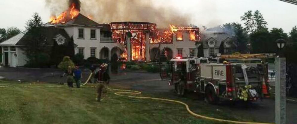 "PHOTO: This photo was posted to Twitter on July 3, 2014 with the caption, ""Middlebury ct...mansion fire..."""