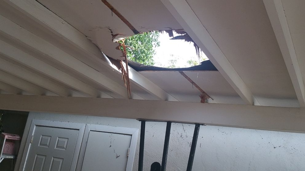 23 Pound Package Of Marijuana Falls Through Family S Roof