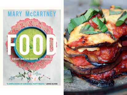 Mary mccartney vegetarian cheese eggplant oven bake recipe abc news photo mary mccartney shares simple vegetarian meals for the whole family in her new forumfinder Choice Image