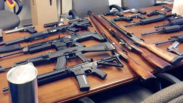 PHOTO: Large weapons cache