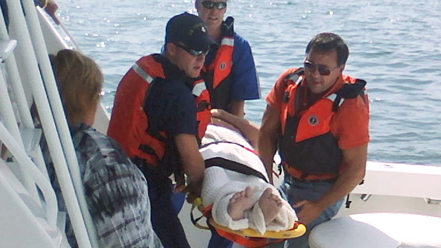 PHOTO:Pilot Michael Trapp rescued from Lake Huron