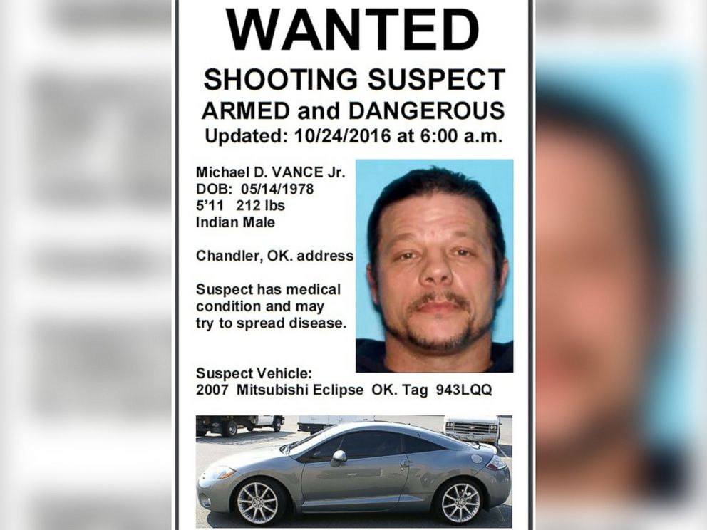 PHOTO: Michael D. Vance Jr. is pictured in a wanted poster released by Oklahoma Highway Patrol.