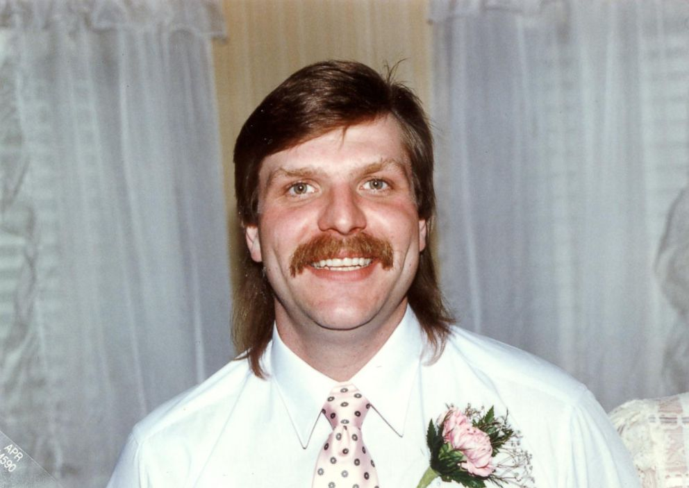 Michael Wallace is seen here at his wedding.