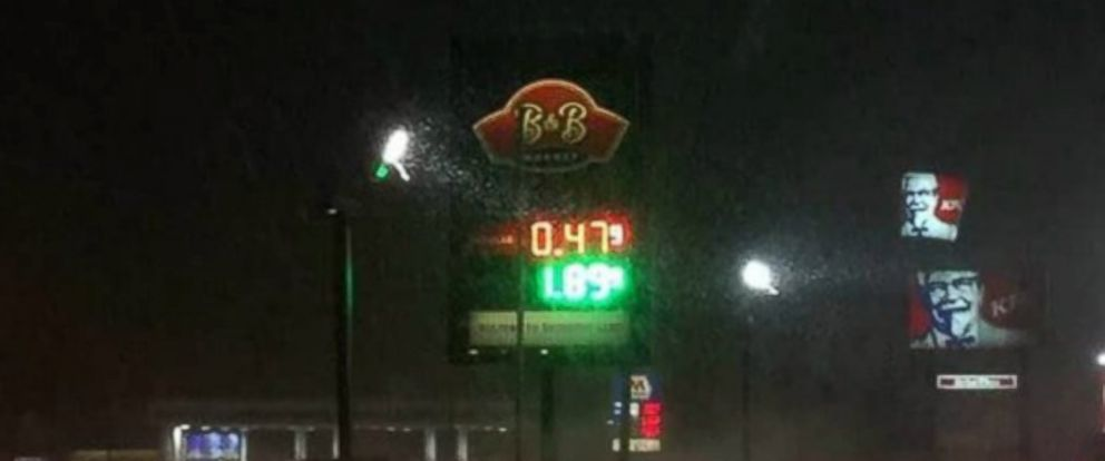PHOTO:Beacon & Bridge Markets sign shows gas at $.47 per gallon in Michigan.
