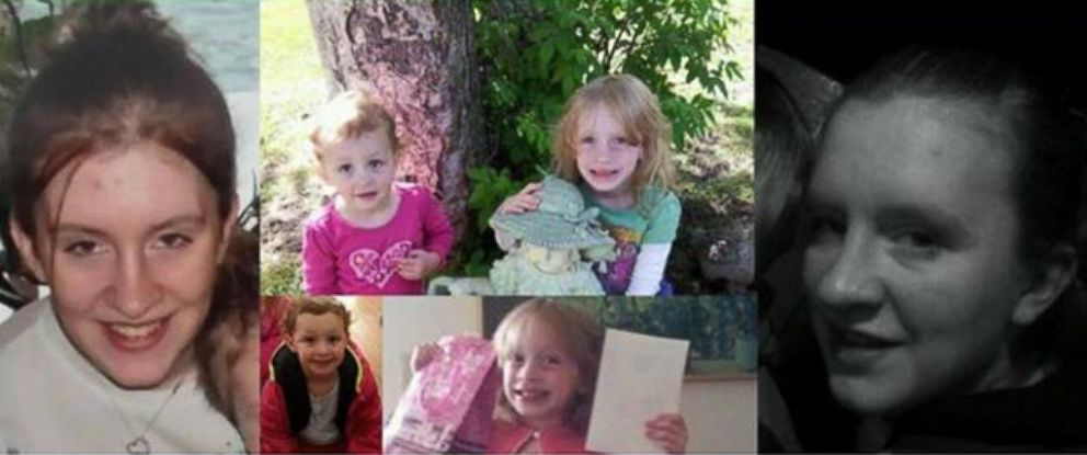PHOTO: Brandon Jividen, 38, Rebecca Adams, 23, and Adams children, Michelle Hundley, 6, and Jaracca Hundley, 3, were reported missing in May 2014.