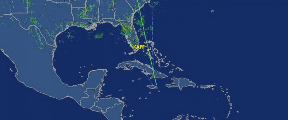 PHOTO: The Flight Aware radar map showing the path of an unresponsive plane, Sept. 15, 2014.