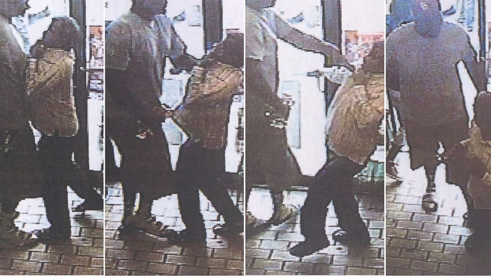 """Police in Ferguson, Mo., said teenager Michael Brown was the """"primary suspect"""" in an alleged convenience store robbery - police say is shown in these surveillance stills - shortly before Brown was shot by a police officer."""