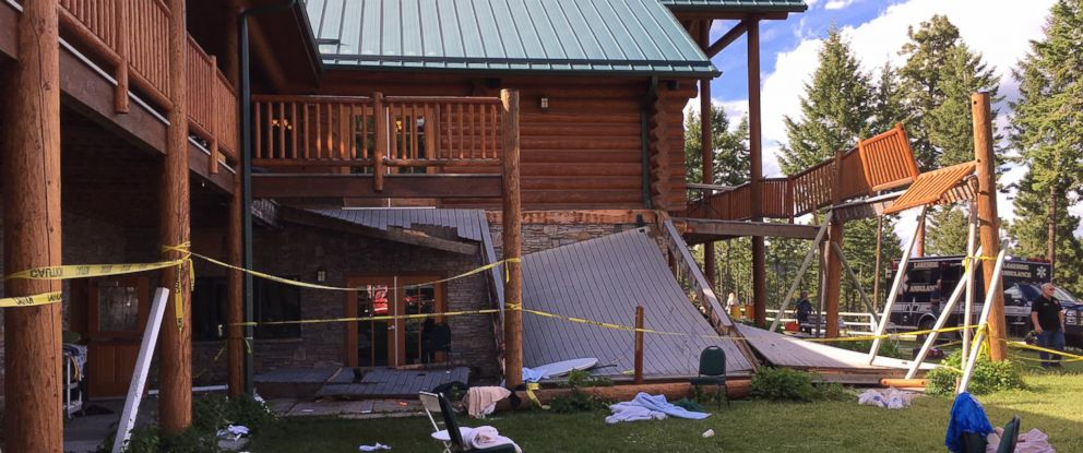 PHOTO: A deck collapsed at Glacier Park in Lakeside, Montana, on June 17, 2017.