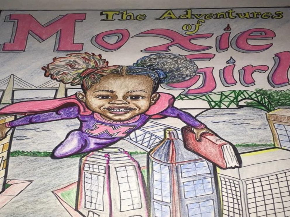 PHOTO: Natalie McGriff won $16k with the comic book The Adventures of Moxie Girl, that she created with her mom, Angie Nixon.