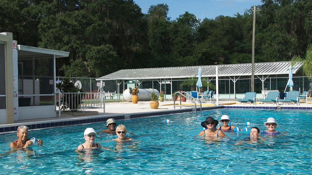 Residents in the pool at Nalcrest.
