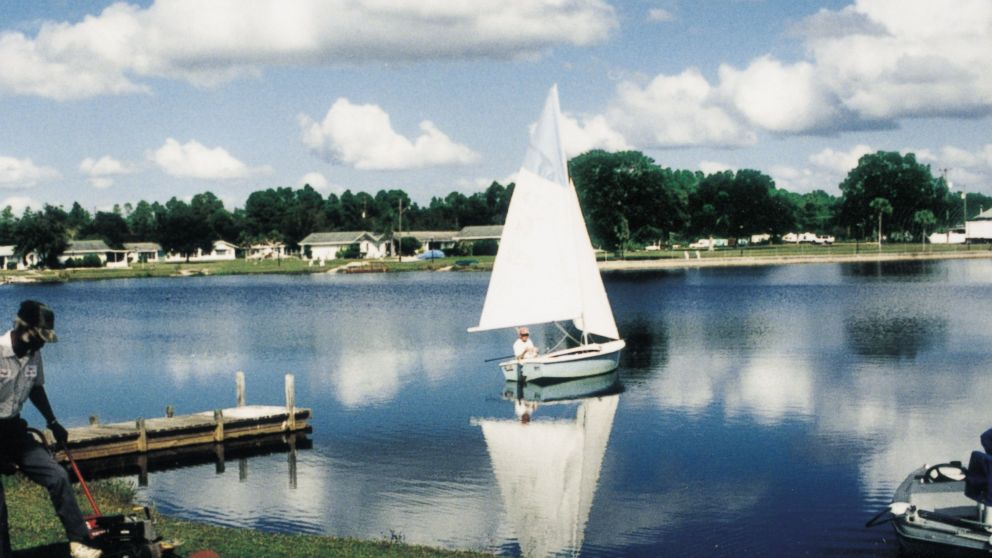 A lake provides boating and fishing for residents.