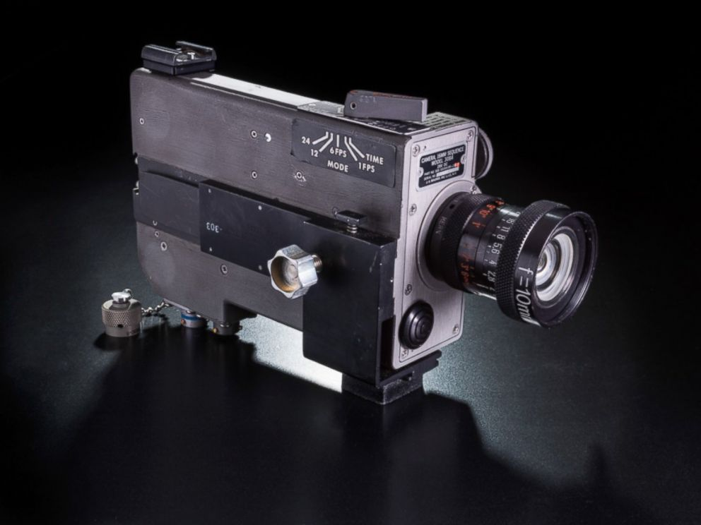 PHOTO: Mounted in the right-hand window of the lunar module Eagle, this camera filmed the first landing on the Moon. Astronauts Neil Armstrong and Buzz Aldrin later repositioned it to film their work on the lunar surface.