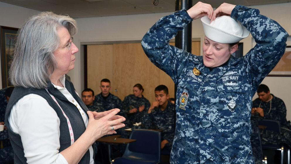 Female Navy recruits will now wear the same hat as their male counterparts. eb86ffdde