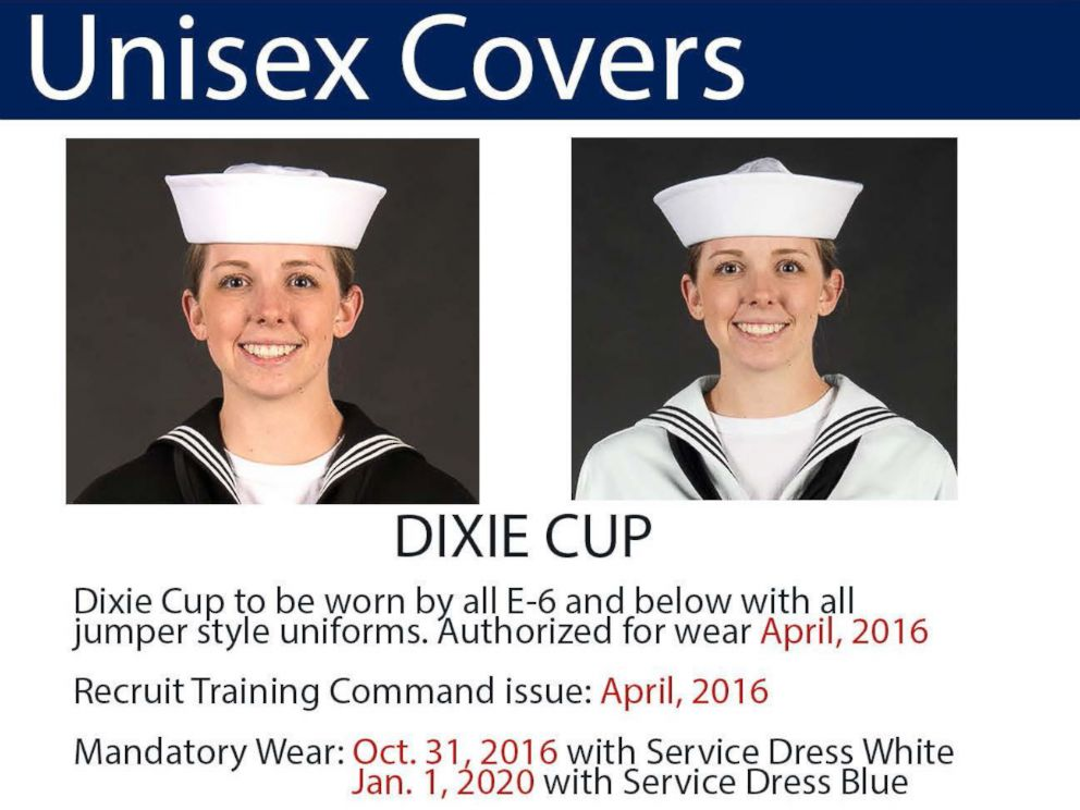 Navys Famous Dixie Cup Hats To Be Worn By Women Abc News