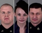 PHOTO: Sgt. Kevin Thyne, Officer Ruth Burns and Sgt. James Garber were injured when suspect Eddie Jones III attacked and disarmed Burns in Gloucester Township, N.J., on Dec. 28, 2012.