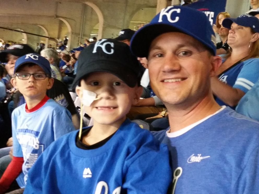 PHOTO: Scott Wilson with his sons at the World Series game on Oct. 21, 2014.