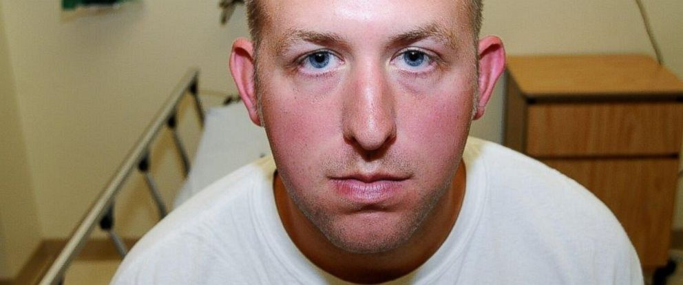 PHOTO: Ferguson, Mo. police officer Darren Wilson is pictured in evidence photos released by the St. Louis County Prosecutors Office on Nov. 24, 2014.