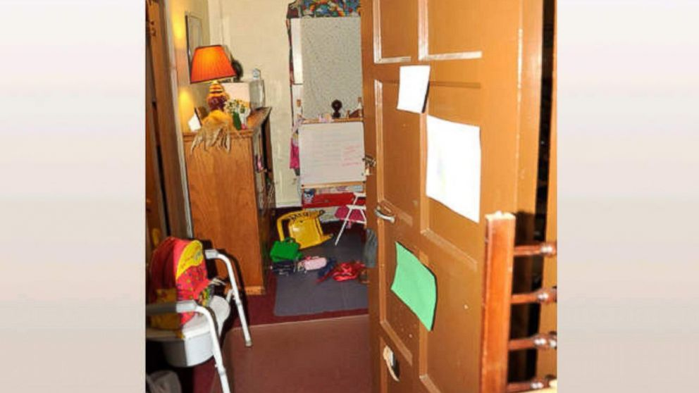 Together, Amanda Berry and her daughter Jocelyn shared the room in Ariel Castro's house pictured here.
