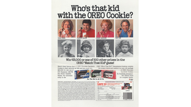 """PHOTO: This was a memorable ad campaign, said Becky Tousey, Kraft Foods' """"Oreo historian."""""""