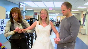 PHOTO She was paralyzed in a 2008 car crash and plans to marry her fiance in April where she plans on getting out of her wheelchair and walk down the aisle.